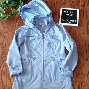 LIZ CLAIBORNE cute blue rain jacket